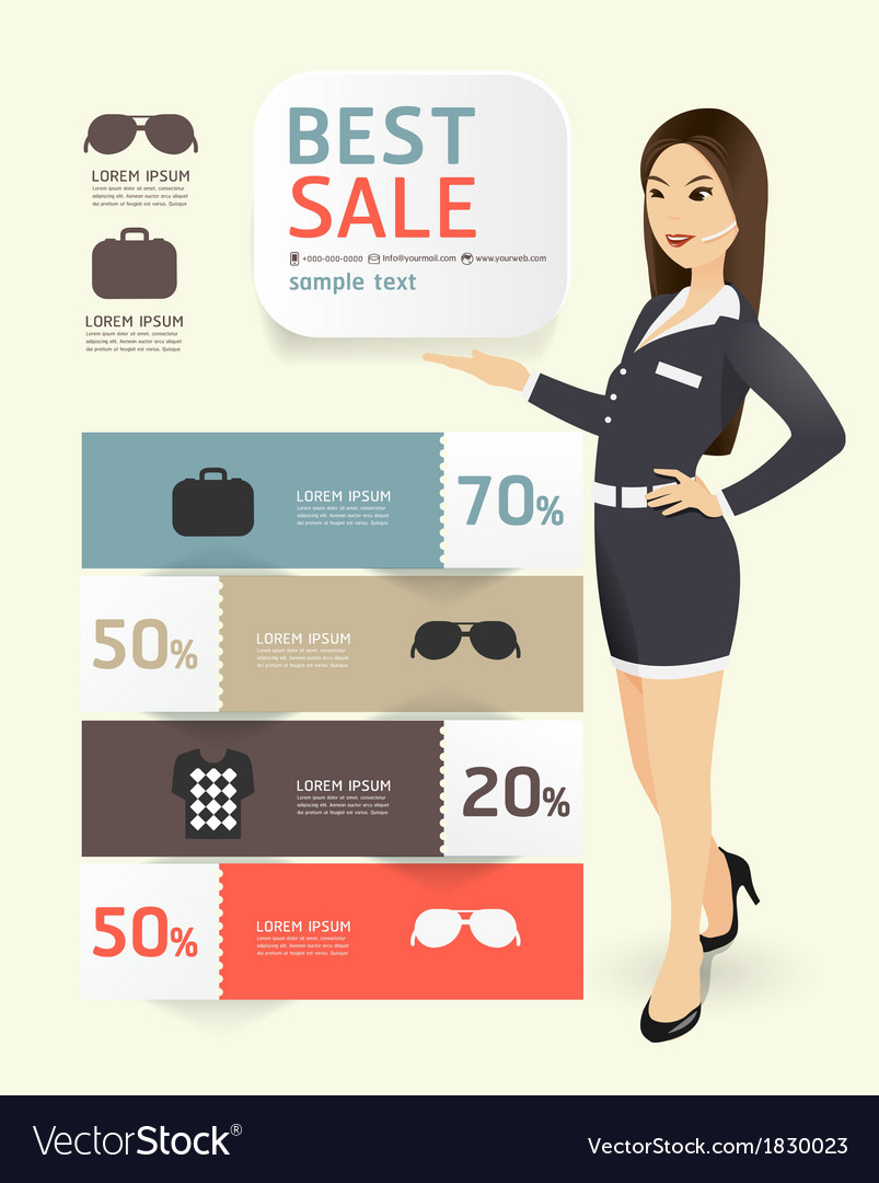 Sale promotion label paper template modern style vector   Price: 1 Credit (USD $1)