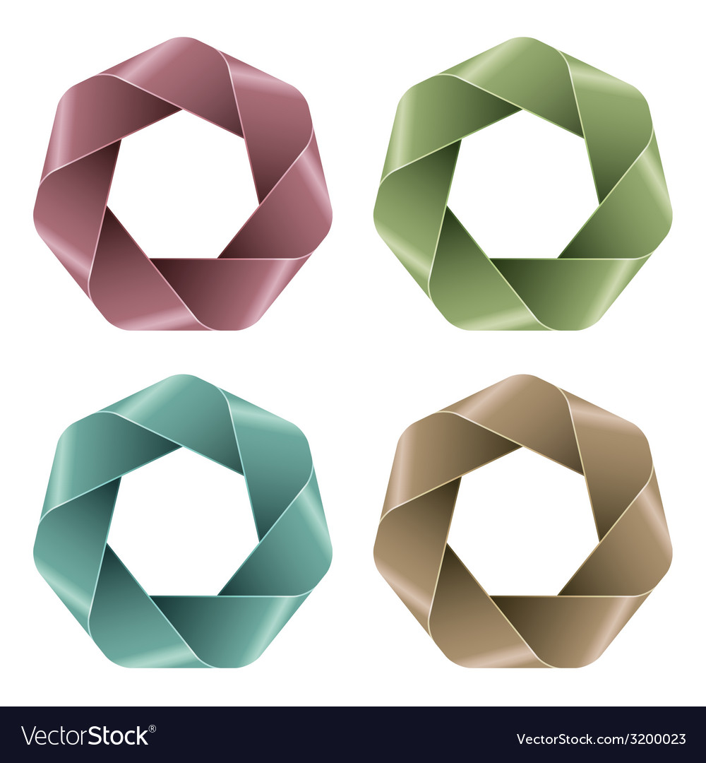 Set of abstract polygon icons vector | Price: 1 Credit (USD $1)