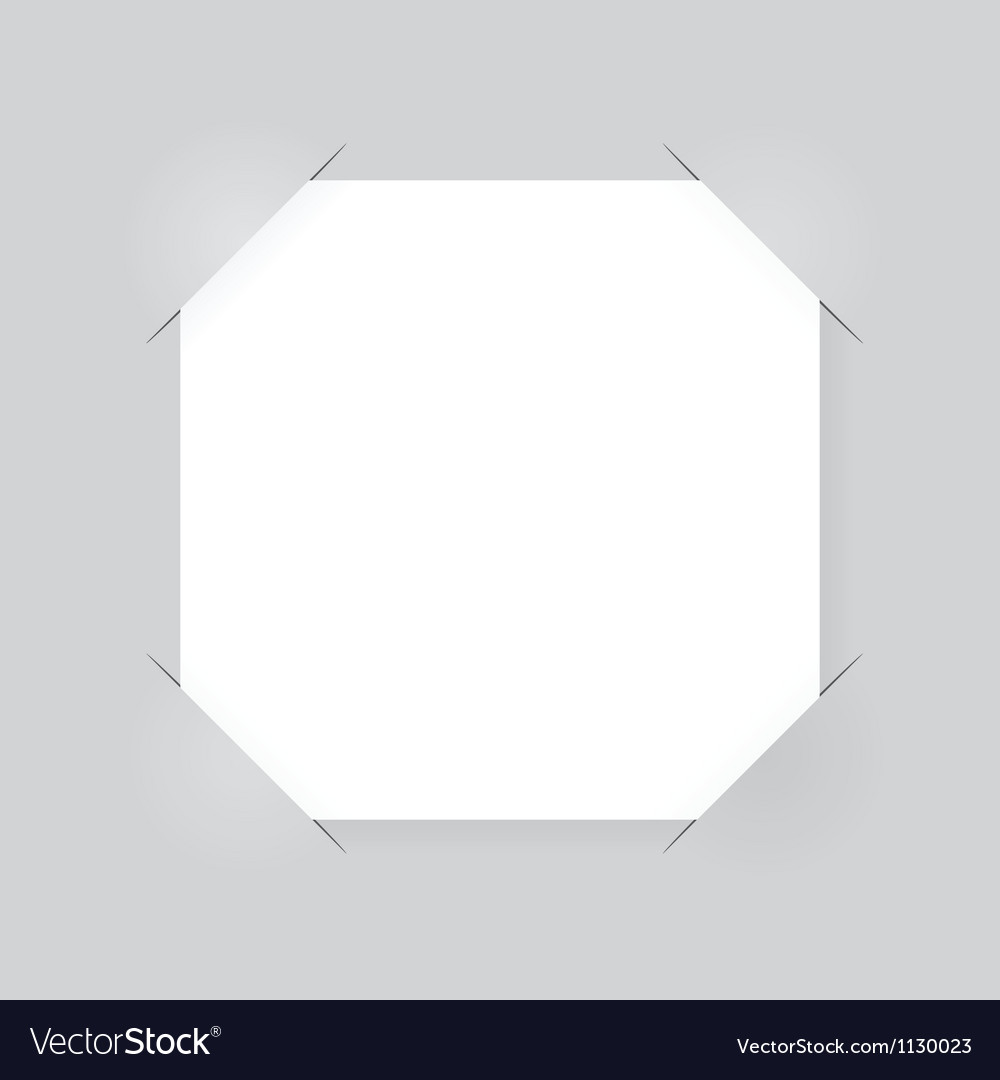 Square paper sheet vector | Price: 1 Credit (USD $1)