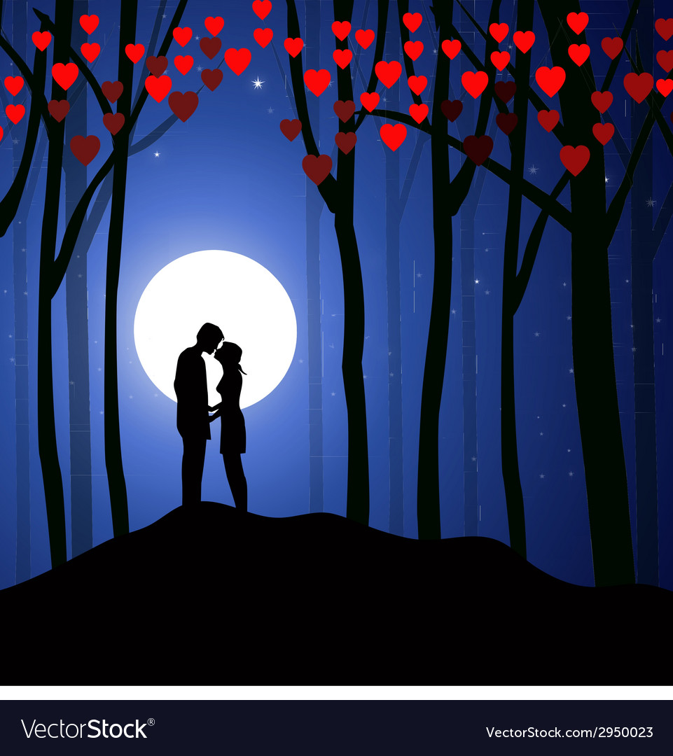 Valentine night vector | Price: 1 Credit (USD $1)