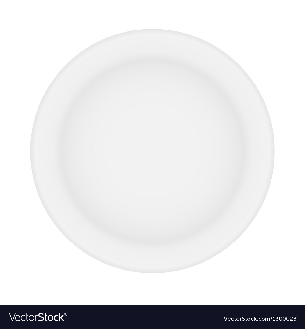 White plate isolated vector | Price: 1 Credit (USD $1)
