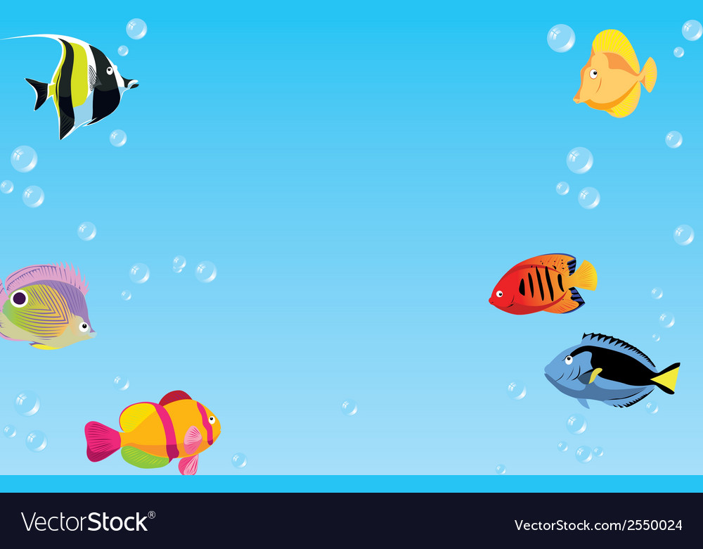 Background with fishes vector | Price: 1 Credit (USD $1)