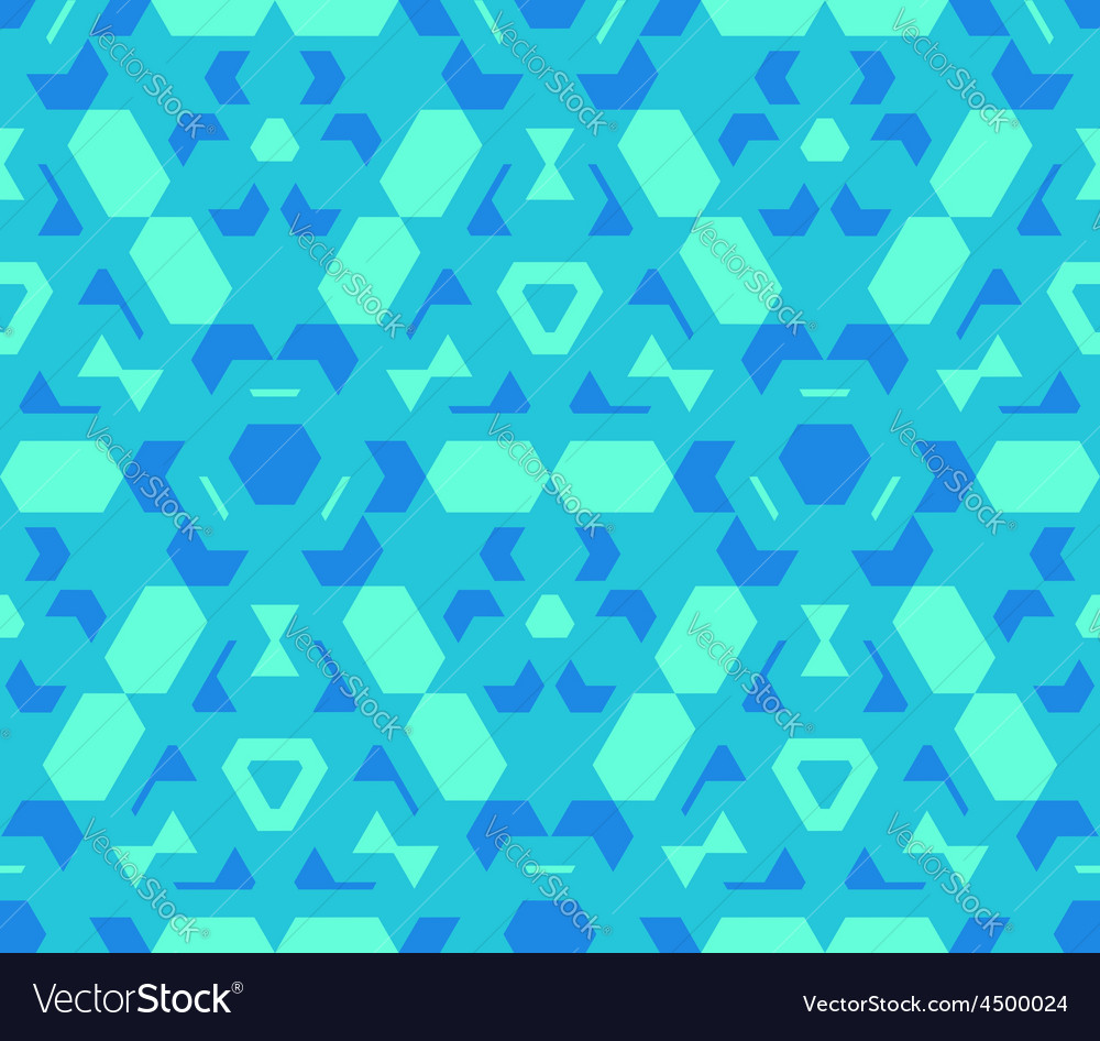 Blue cyan green color abstract geometric seamless vector | Price: 1 Credit (USD $1)
