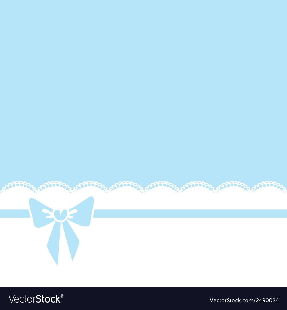 Bow and lace border vector | Price: 1 Credit (USD $1)
