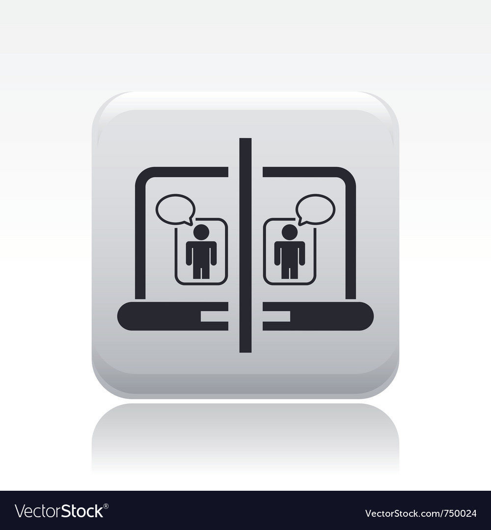 Computer chat icon vector | Price: 1 Credit (USD $1)