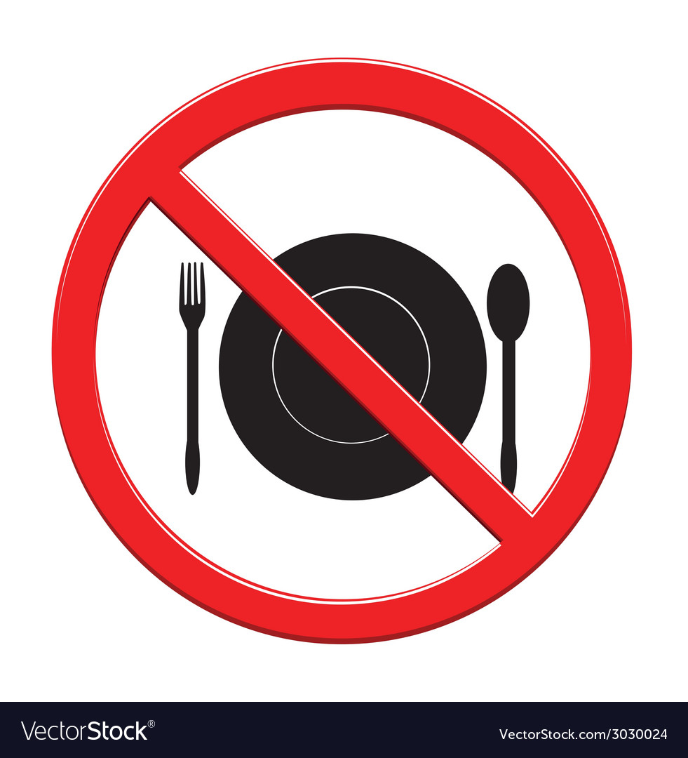 Do not eat sign icon vector | Price: 1 Credit (USD $1)