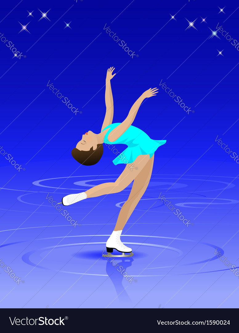 Female figure skater vector | Price: 1 Credit (USD $1)