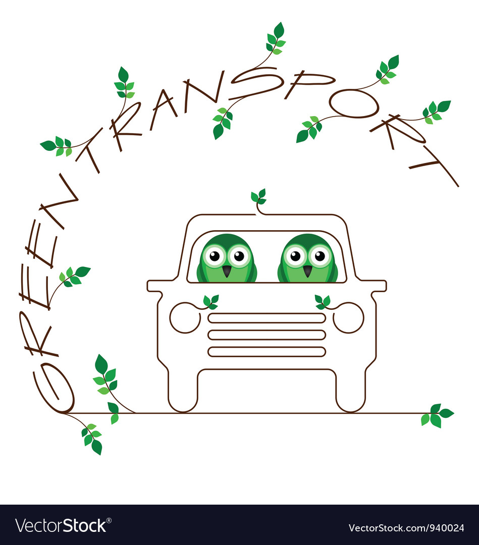 Green transport vector | Price: 1 Credit (USD $1)