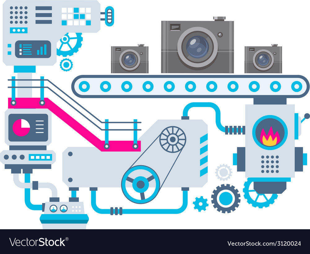 Industrial background of the factory for man vector | Price: 1 Credit (USD $1)