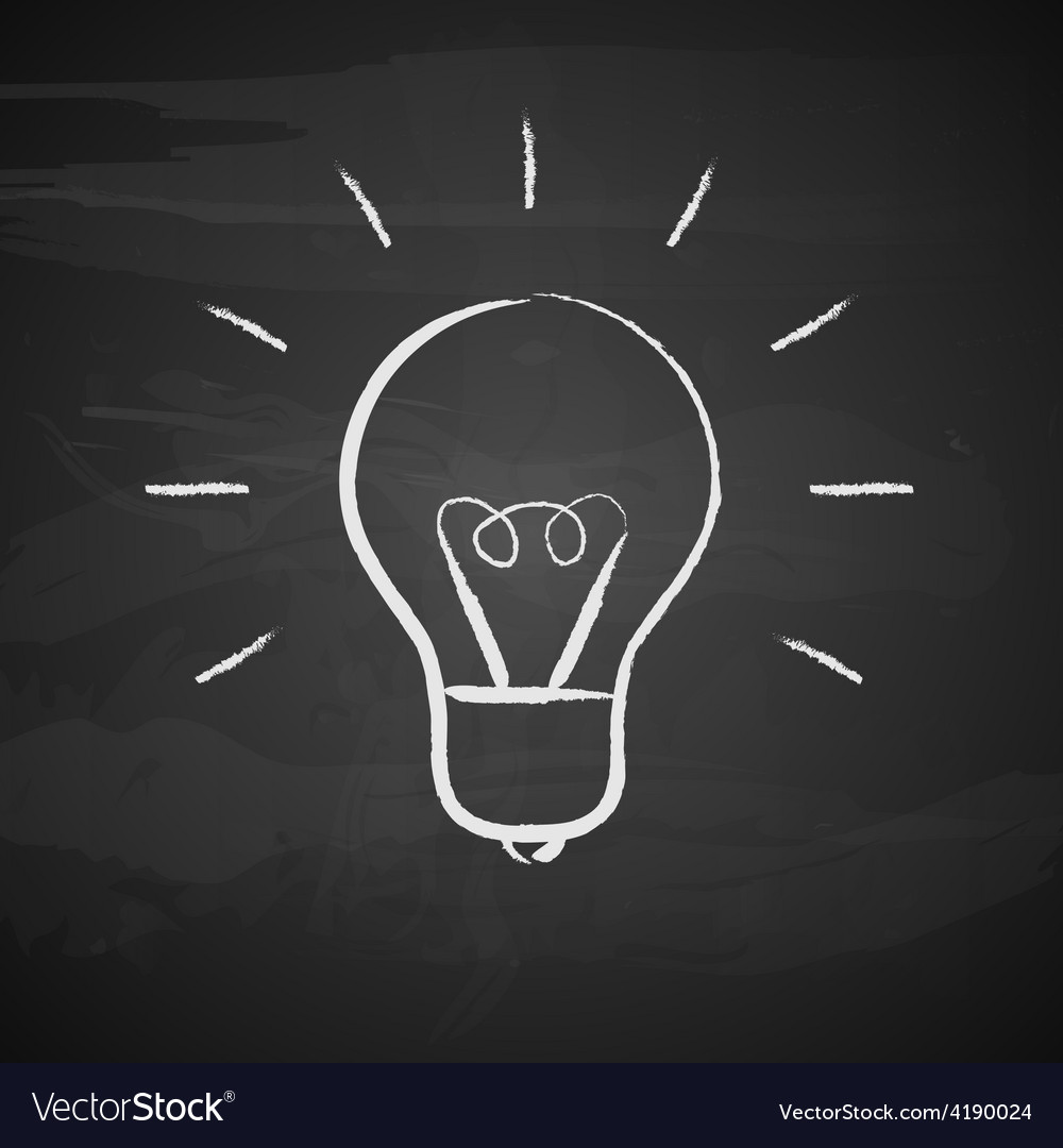 Light bulb on black background vector | Price: 1 Credit (USD $1)
