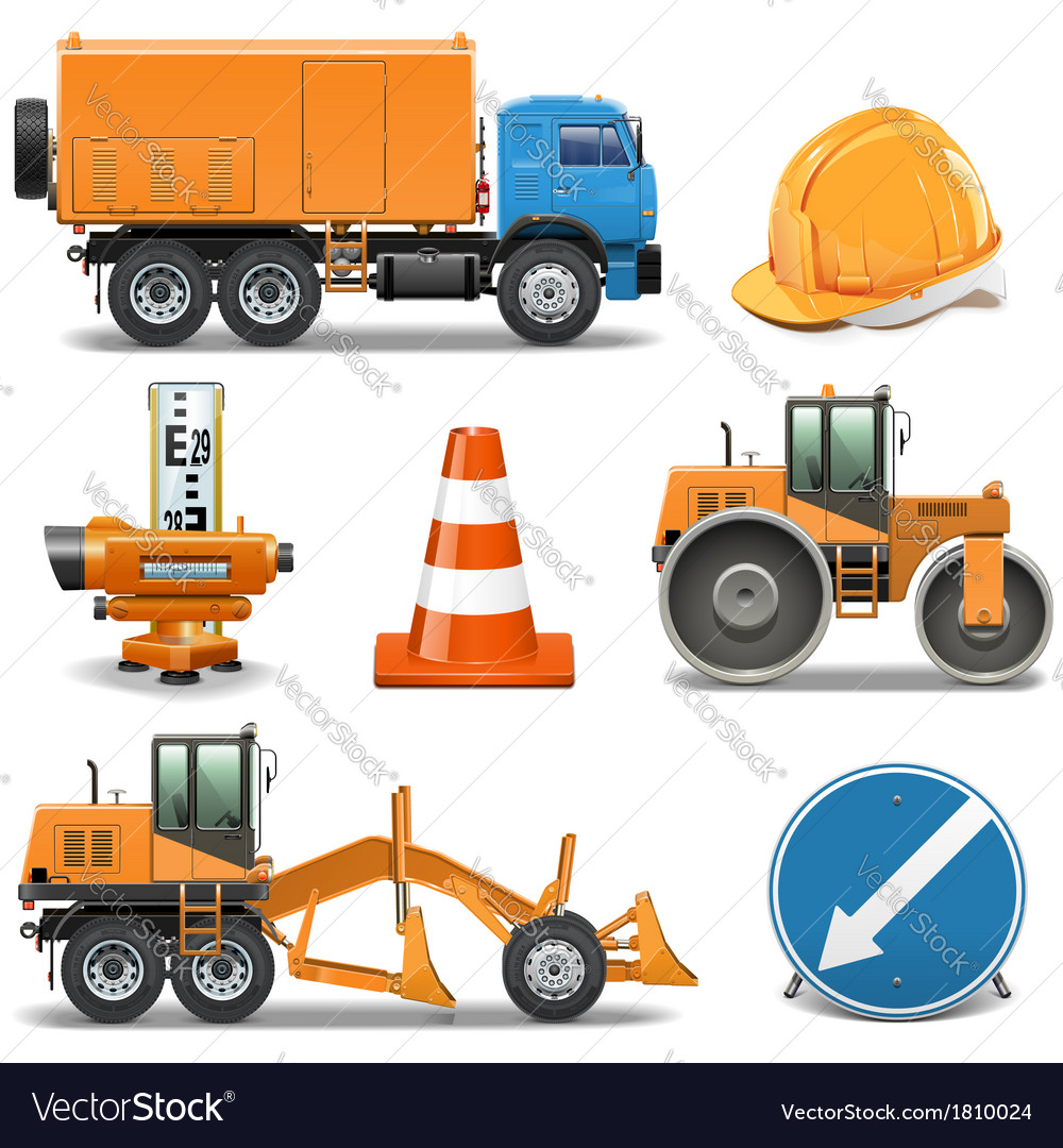 Road construction icons vector | Price: 3 Credit (USD $3)