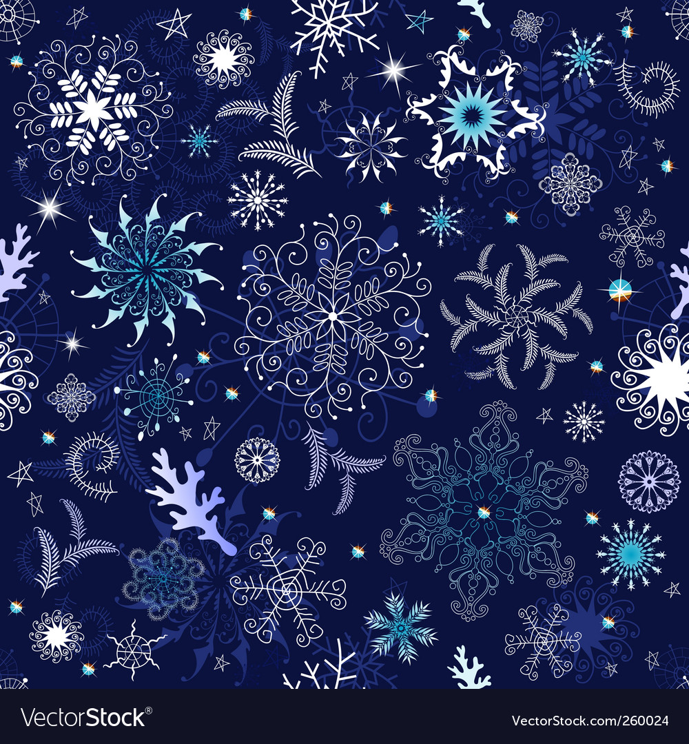 Seamless dark blue christmas wallpaper vector | Price: 1 Credit (USD $1)