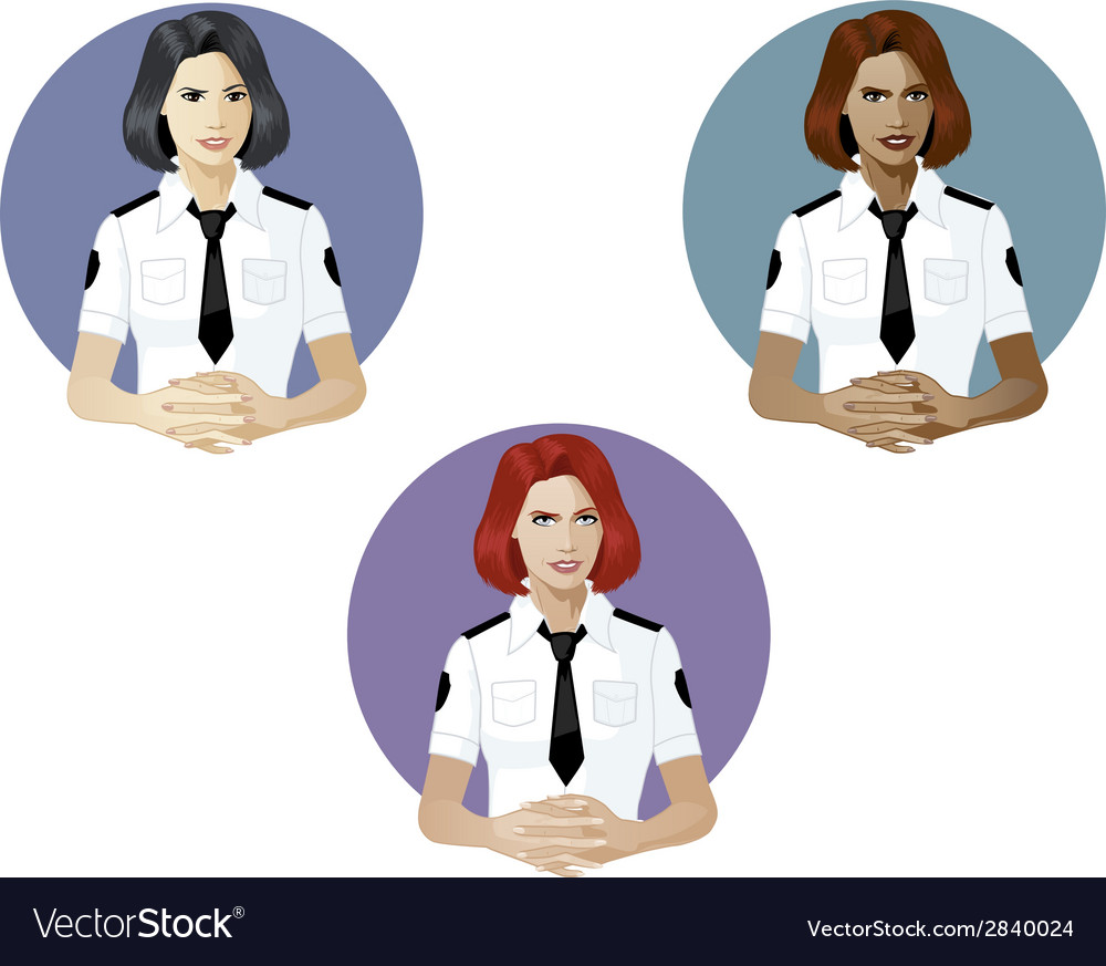 Woman in police uniform referent vector | Price: 1 Credit (USD $1)