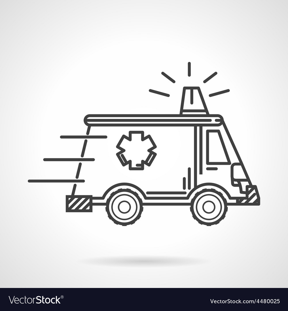 Black icon for ambulance car vector | Price: 1 Credit (USD $1)