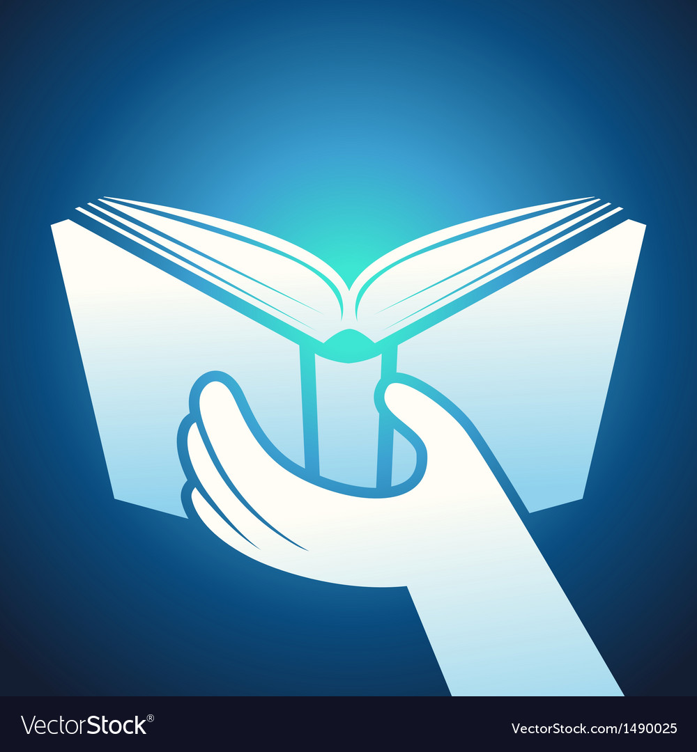 Book icon - hands holding textbook vector   Price: 1 Credit (USD $1)