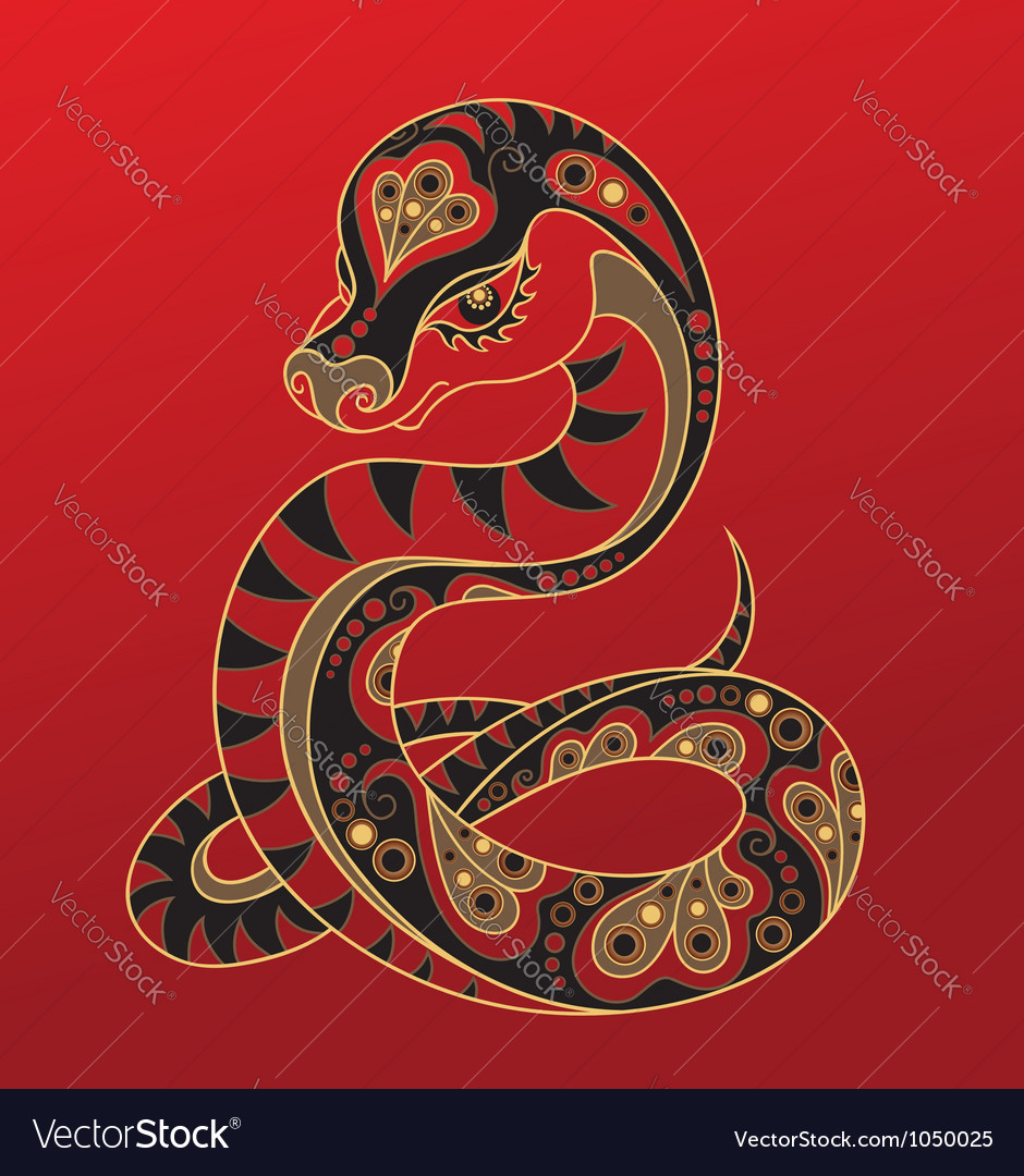 Chinese horoscope year of the snake vector | Price: 1 Credit (USD $1)