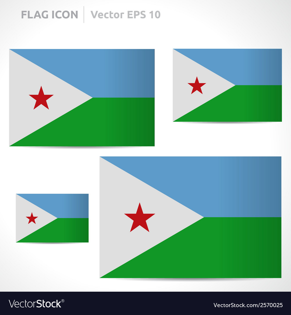 Djibouti flag template vector | Price: 1 Credit (USD $1)