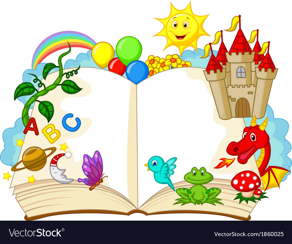 Fantasy book cartoon vector | Price: 1 Credit (USD $1)