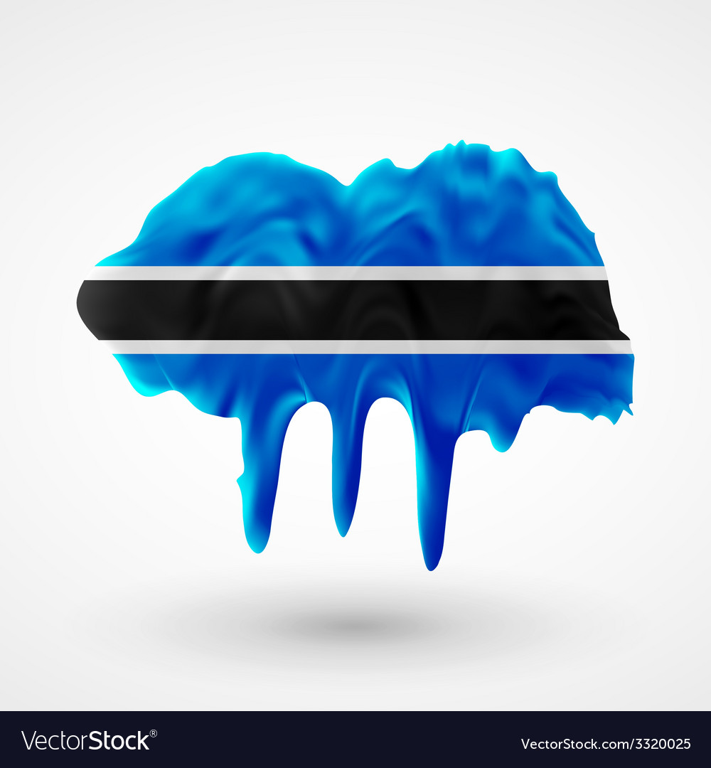 Flag of botswana painted colors vector | Price: 1 Credit (USD $1)