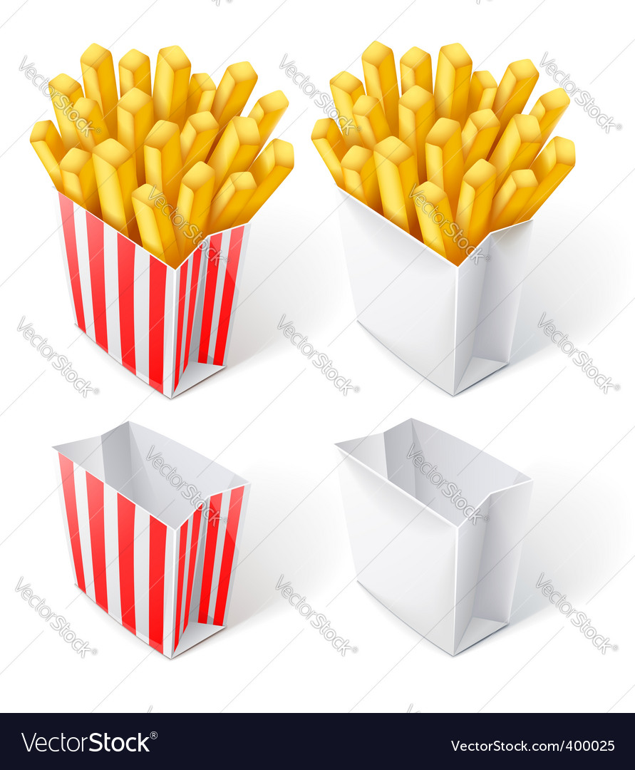 Fried chips in paper bag vector | Price: 3 Credit (USD $3)