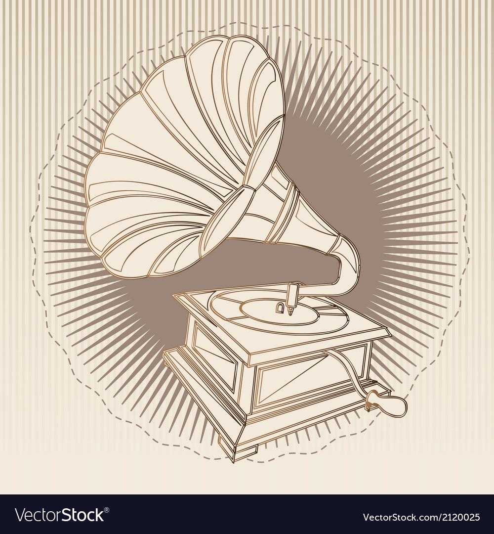 Gramophone vintage vector   Price: 1 Credit (USD $1)