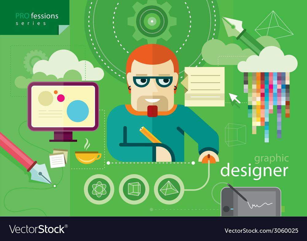 Graphic designer profession series vector | Price: 1 Credit (USD $1)