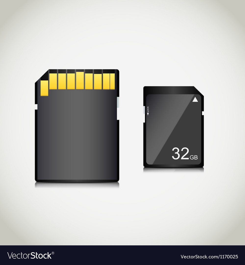 Memory card vector | Price: 3 Credit (USD $3)