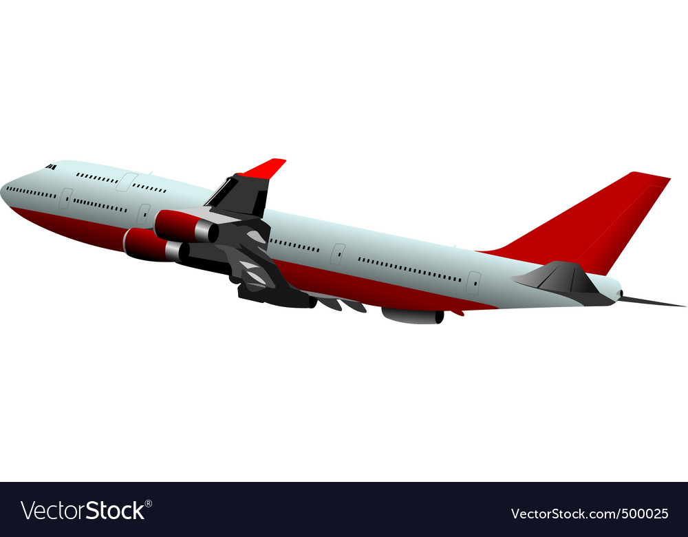 Passenger plane vector | Price: 3 Credit (USD $3)