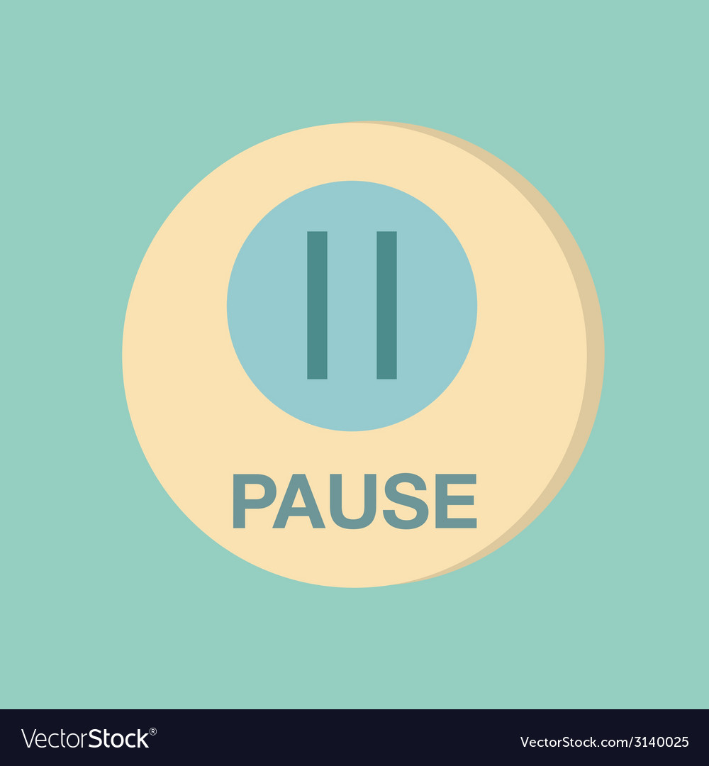 Pause web icon on background vector | Price: 1 Credit (USD $1)