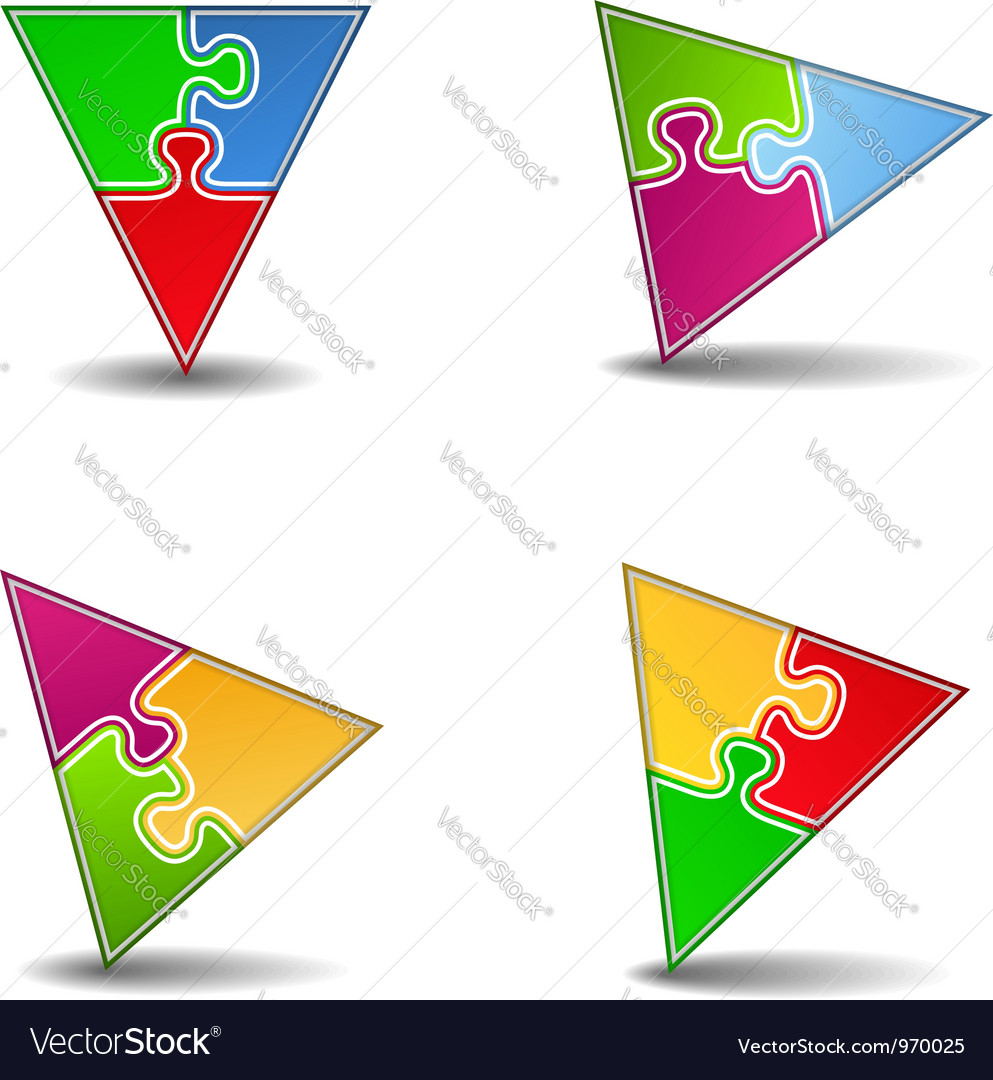 Puzzle triangles vector | Price: 1 Credit (USD $1)
