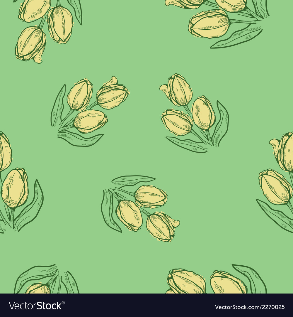 Seamless flowers pattern nature background concept vector   Price: 1 Credit (USD $1)