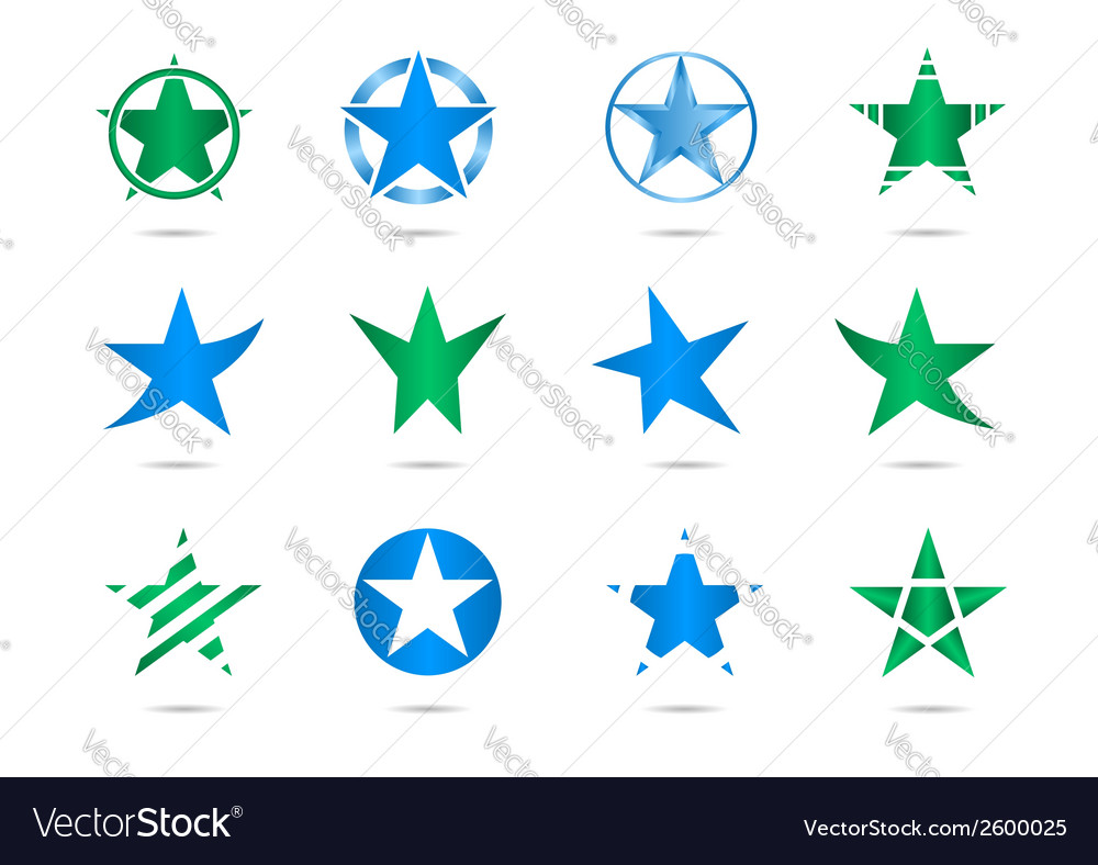 Star logos vector | Price: 1 Credit (USD $1)