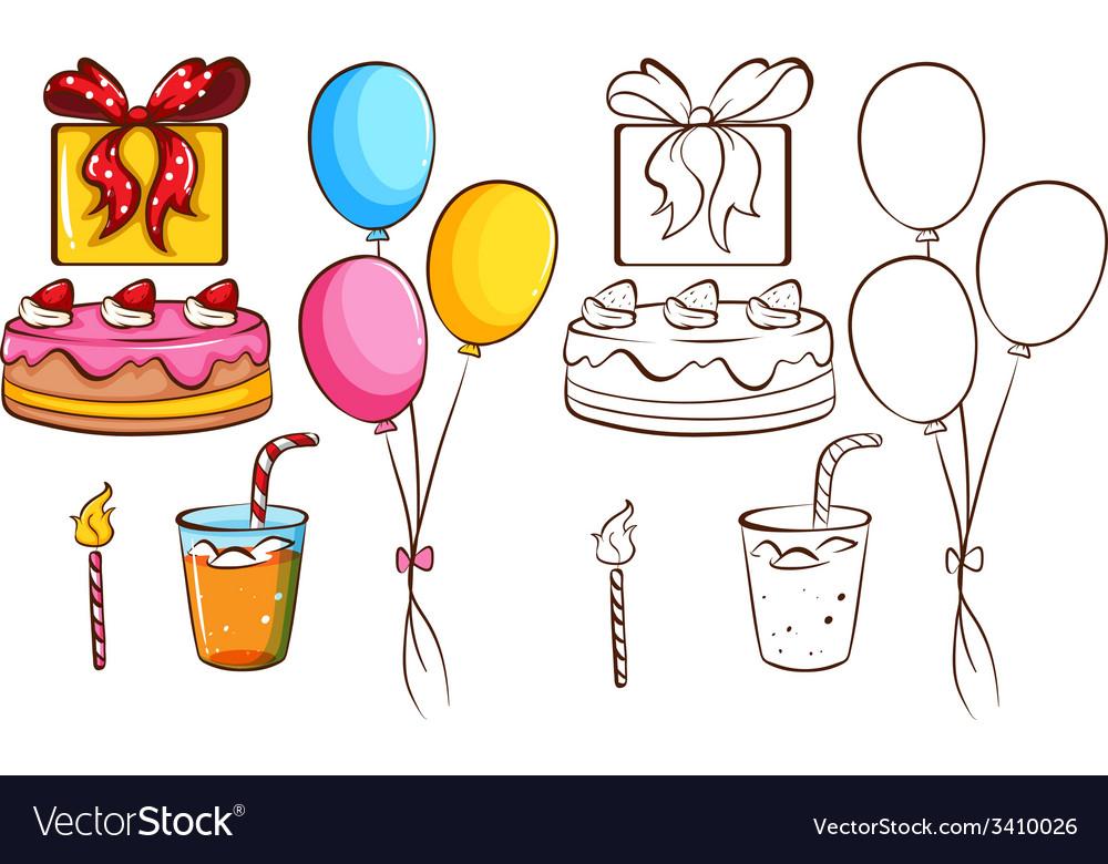 A birthday celebration vector | Price: 1 Credit (USD $1)