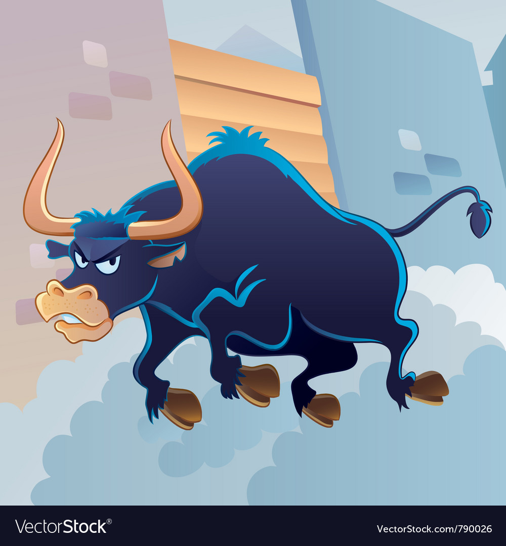 Angry bull vector | Price: 3 Credit (USD $3)
