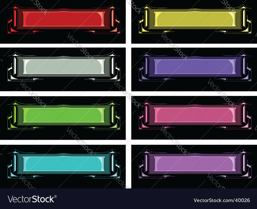 Banner variations vector | Price: 1 Credit (USD $1)