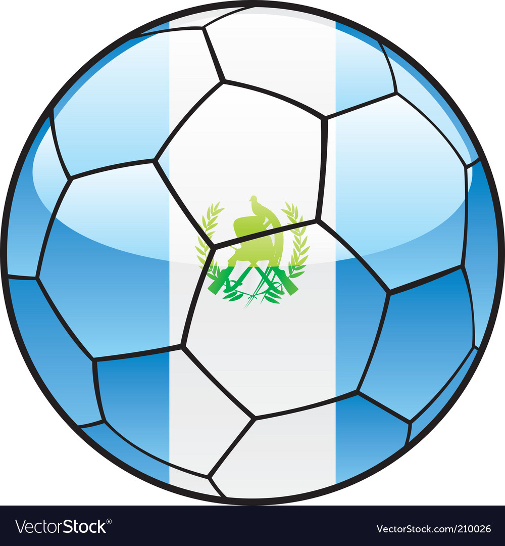Guatemala flag on soccer ball vector | Price: 1 Credit (USD $1)