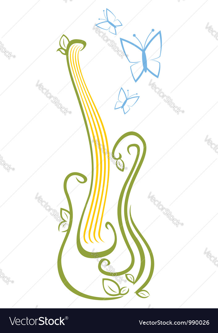Guitar music vector | Price: 1 Credit (USD $1)