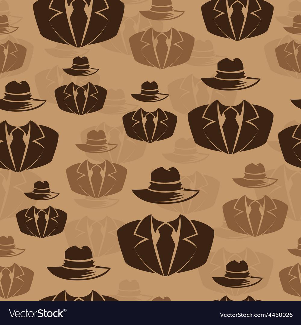Icon spy secret agent seamless background vector | Price: 1 Credit (USD $1)