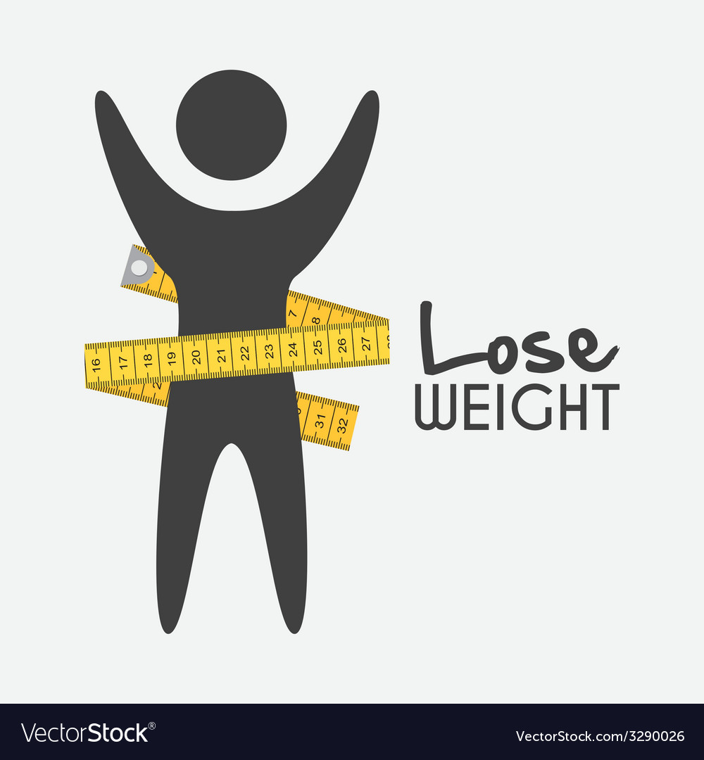 Lose weight design vector | Price: 1 Credit (USD $1)