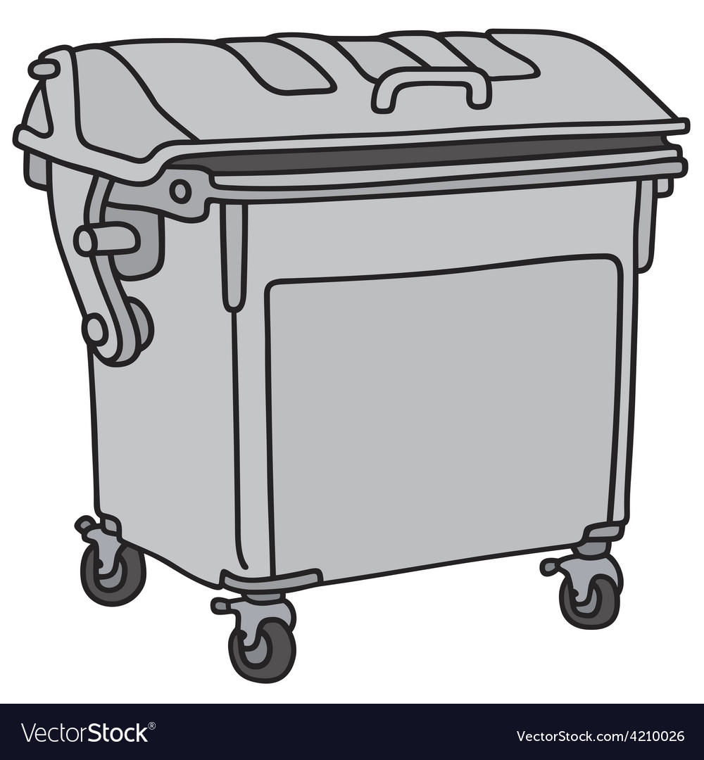 Metal garbage container vector | Price: 1 Credit (USD $1)