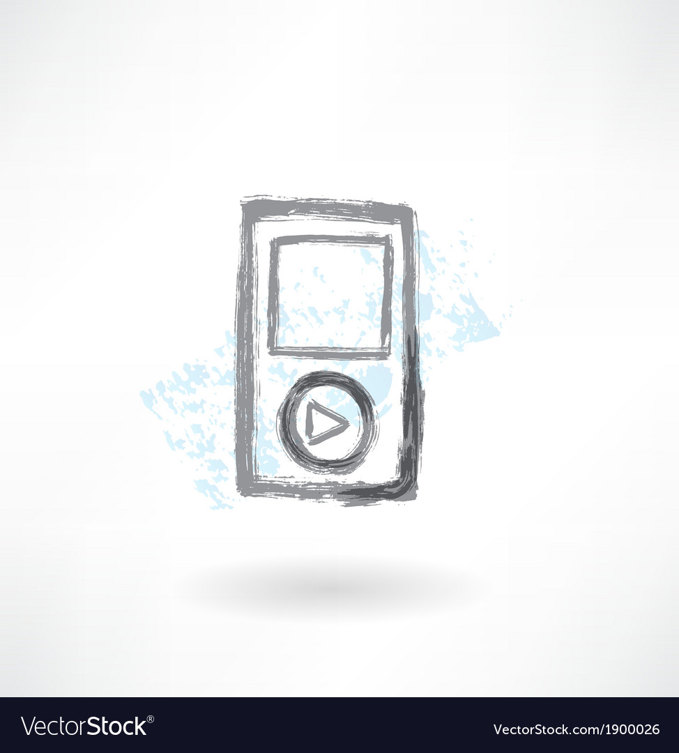 Music player grunge icon vector | Price: 1 Credit (USD $1)