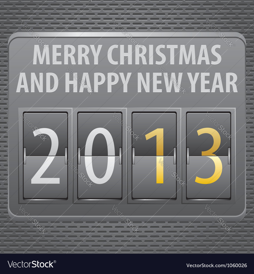 New year 2013 on mechanical timetable vector   Price: 1 Credit (USD $1)