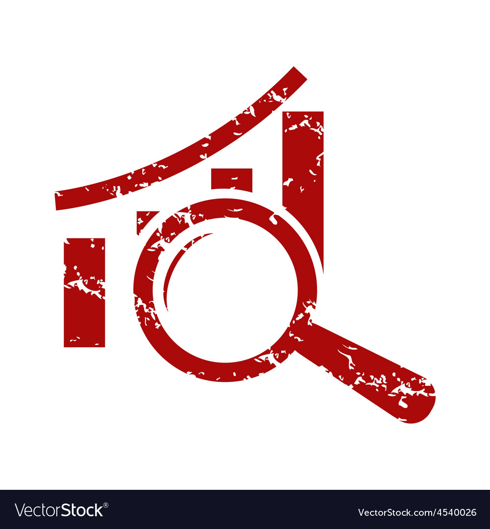 Red grunge graph scan logo vector | Price: 1 Credit (USD $1)