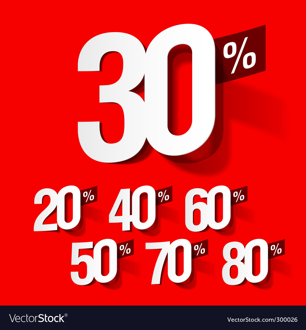 Sale percents vector | Price: 1 Credit (USD $1)