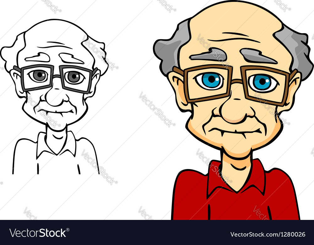 Senior man vector | Price: 1 Credit (USD $1)