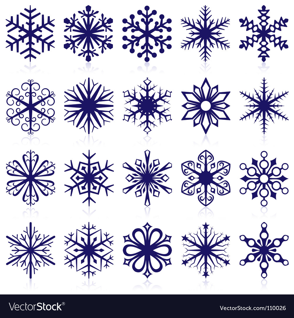 Snowflake shapes vector | Price: 1 Credit (USD $1)
