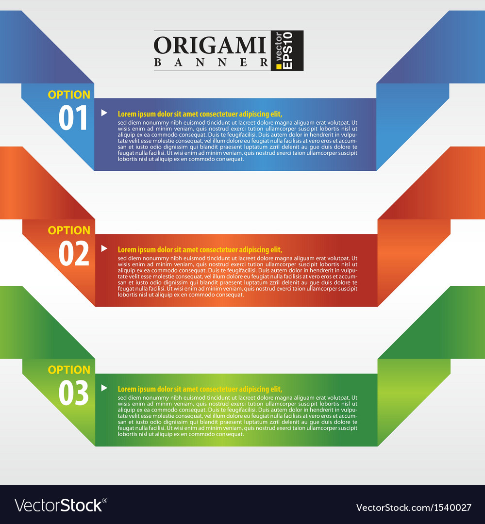Abstract origami banner eps 10 vector | Price: 1 Credit (USD $1)
