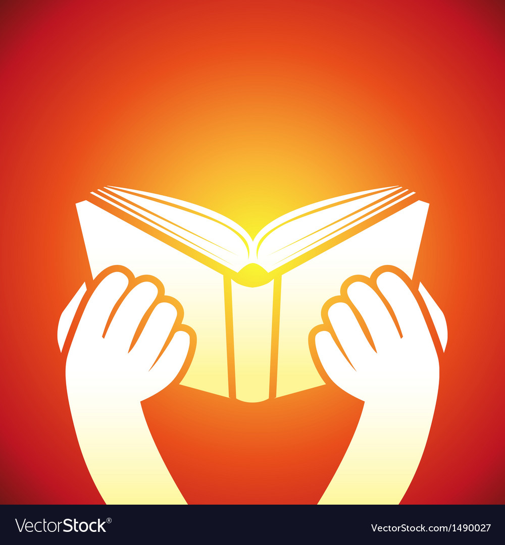 Book icon - hands holding textbook vector | Price: 1 Credit (USD $1)