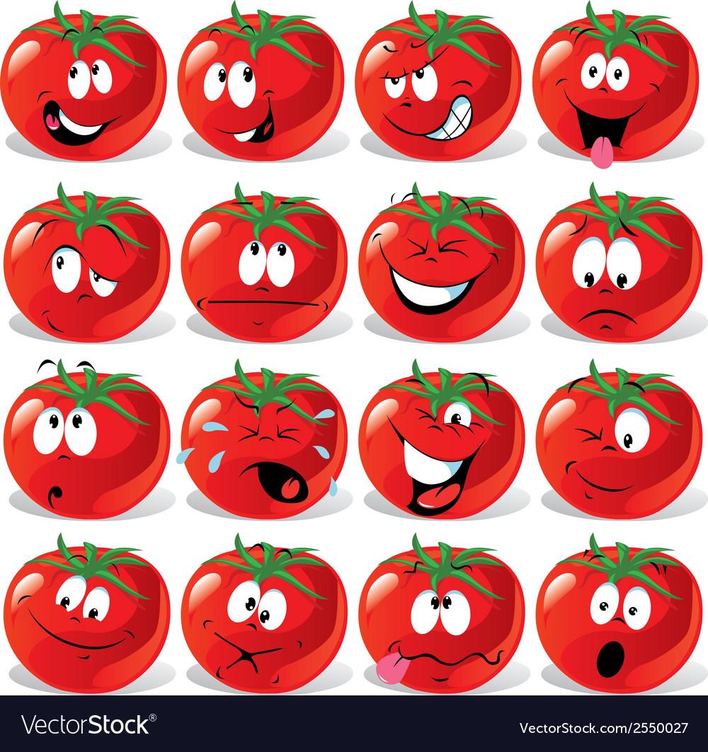 Cartoon tomato vector | Price: 1 Credit (USD $1)