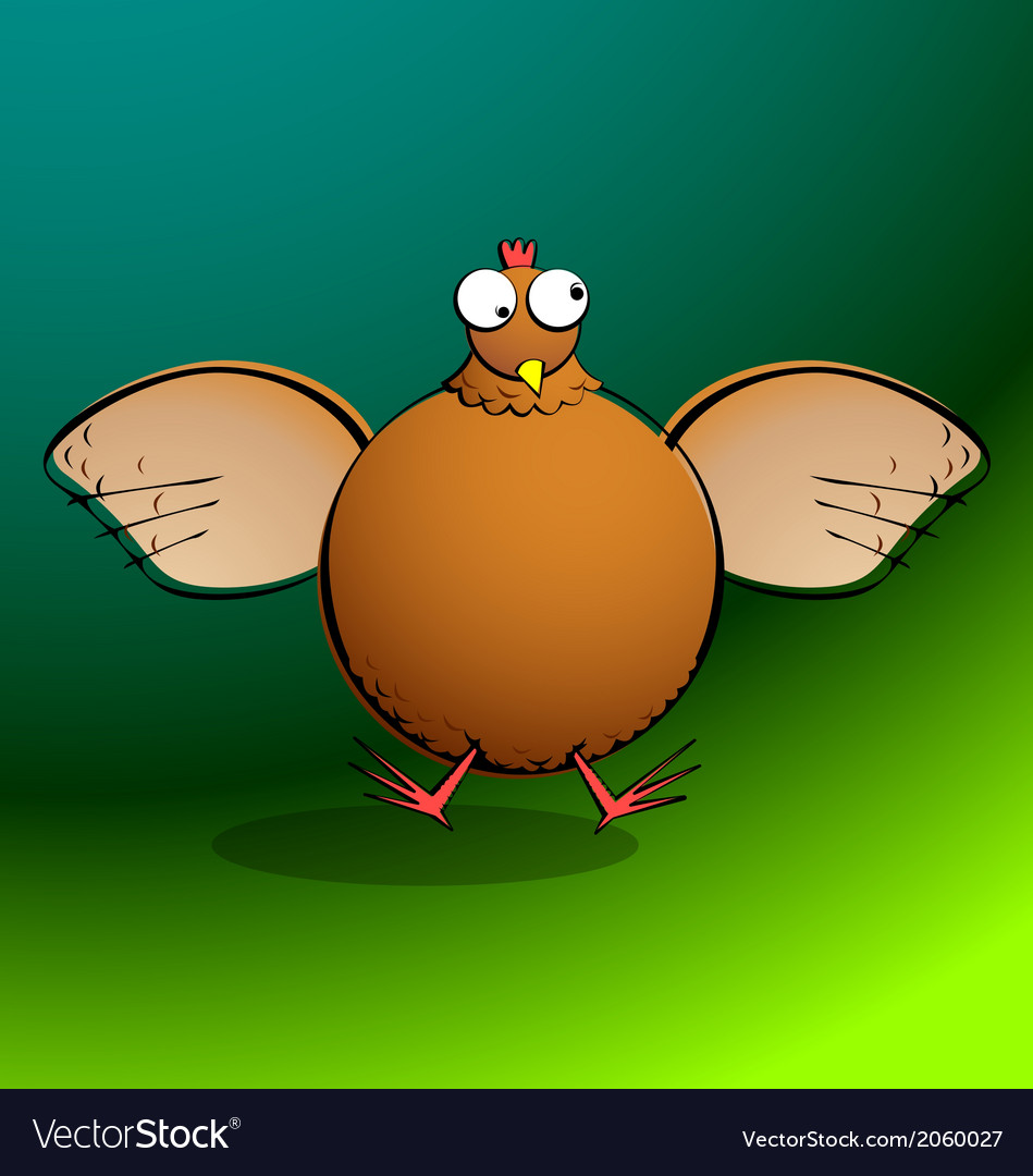 Chickensrround chicken flappin vector | Price: 1 Credit (USD $1)